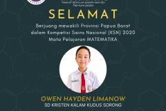 Owen Hayden Limanow - SDKKK Sorong